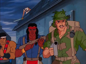 Footloose, Spirit and Quick-Kick Sunbow G.I.Joe cartoon series