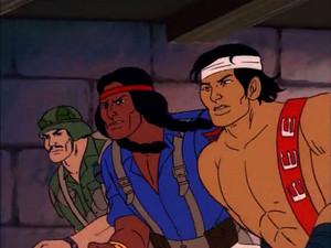 Footloose, Spirit and Quick-Kick and Spirit Sunbow G.I.Joe cartoon series