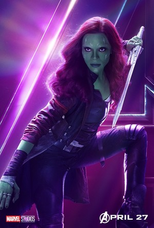 Gamora - Avengers Infinity War character poster