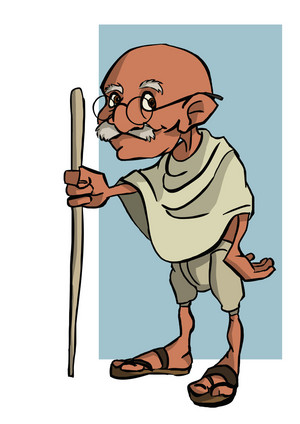 Gandhi (Not my drawing)