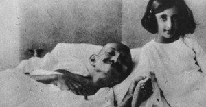 Gandhi and girl