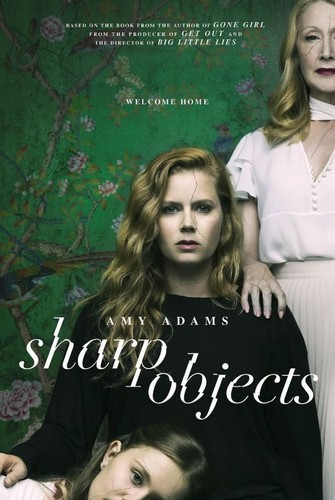 "Book to Screen Adaptations karatasi la kupamba ukuta entitled Gillian Flynn's ""Sharp Objects"" HBO TV Series Poster"