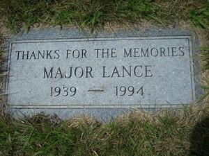 Gravesite Of Major Lance