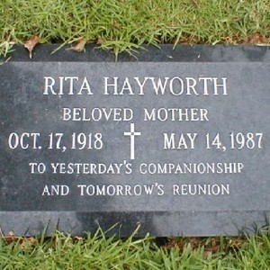 Gravesite Of Rita Hayworth