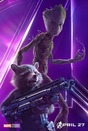 Groot and Rocket - Avengers Infinity War character poster