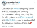 James Bamford's Stemily tweet - stephen-amell-and-emily-bett-rickards photo