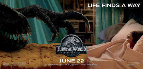 Jurassic World karatasi la kupamba ukuta entitled Jurassic World: Fallen Kingdom Poster - Life finds a way.
