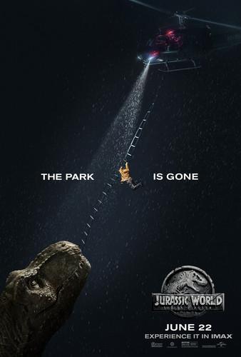 jurassic world wallpaper titled Jurassic World: Fallen Kingdom Poster - The park is gone.
