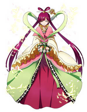 Kougyoku Ren with 꽃 crown
