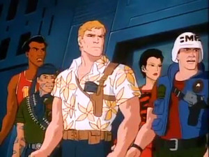 Law, Jinx, Chuckles, Tunnel rat and Big Lob G.I.Joe The Movie