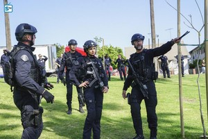 Lina Esco as Chris Alonso in SWAT - Hoax