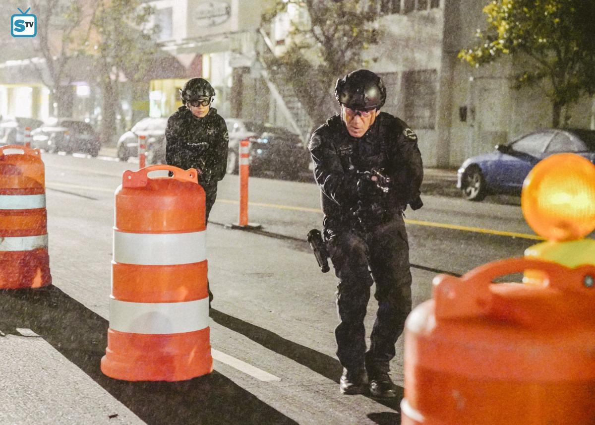 Lina Esco as Chris Alonso in SWAT - Patrol