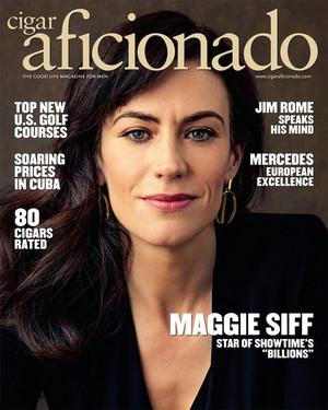 Maggie Siff - Cigar Aficionado Cover - 2017