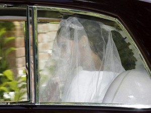 Meghan enroute to St George's Chapel