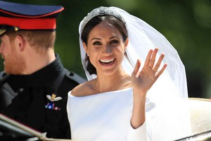 Meghan on her wedding siku