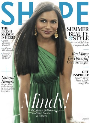 Mindy Kaling - Shape Cover - 2018