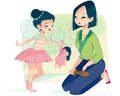 Mulan's mom life - disney fan art