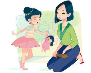 Mulan's mom life