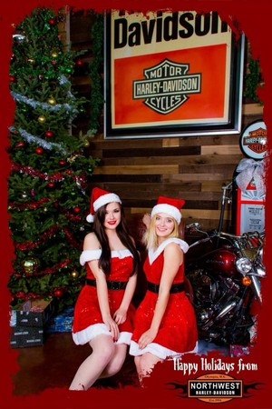 Murasaki Rose Hooper and Northwest Harley-Davidson promo modeling