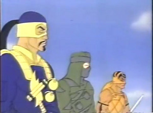 Nunchuk, Dojo and T'Jbang Dic G.I.Joe cartoon series