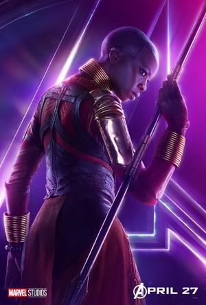 Okoye - Avengers Infinity War character poster
