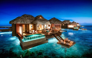 Over The Water Bungalows In Jamaica