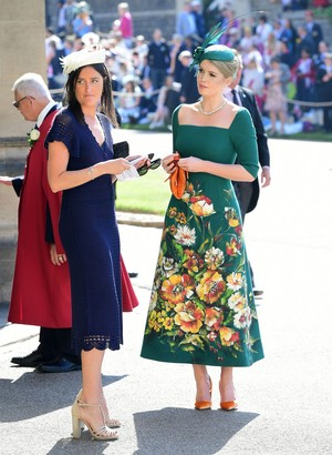 Princess Diana's niece Lady Kitty Spencer arrives at Royal Wedding