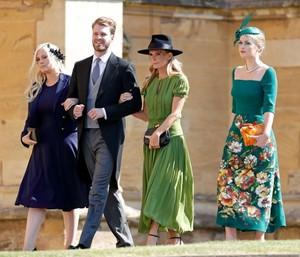 Princess Diana's niece Lady Kitty Spencer arrives at Royal Wedding