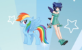 Rainbow Dash and Corina Bucksworth - my-little-pony-friendship-is-magic fan art