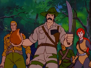 Recondo, Duke, Scarlett and Rock 'n Roll Sunbow G.I.Joe cartoon series