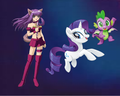 Renée Roberts, Rarity and Spike - my-little-pony-friendship-is-magic fan art