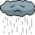 Sad rain cloud