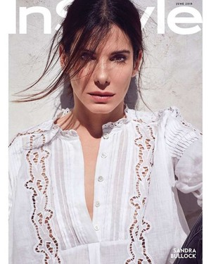 Sandra Bullock covers InStyle US [June 2018]