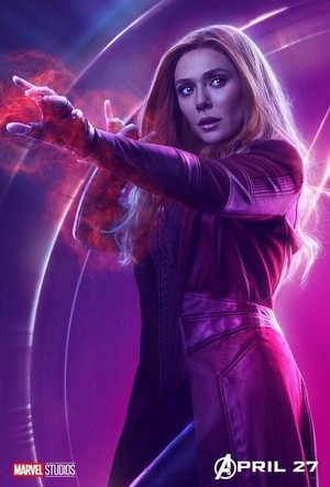Scarlet Witch - Avengers Infinity War character poster