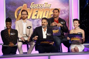 Scarlett Johansson and The Avengers at Jimmy Kimmel Live! [April 30, 2018]