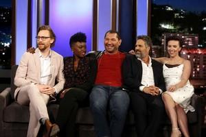 Scarlett Johansson and The Avengers at Jimmy Kimmel Live! [April 30, 2018]