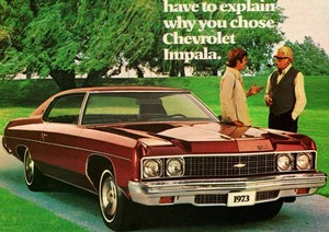 Promo Ad For 1973 Chevy Impala