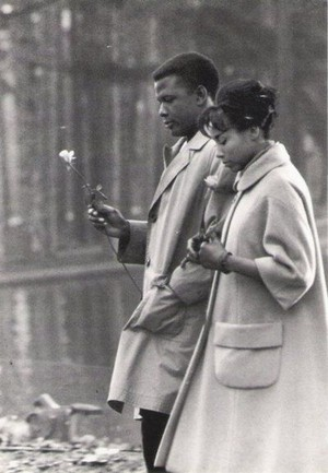Sidney Poitier and Diahann Carroll