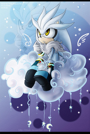 Silver The Hedgehog In The Sky