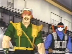 Skymate and Snake Eyes Dic G.I.Joe cartoon series
