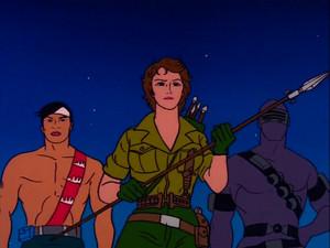 Snake Eyes, Lady Jaye and Quick-Kick Sunbow G.I.Joe cartoon series