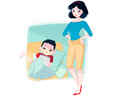 Snow White's mom life - disney fan art