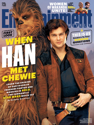 Solo A stella, star Wars story EW cover