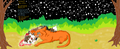 Spottedleaf and Firestar - warrior-cats fan art