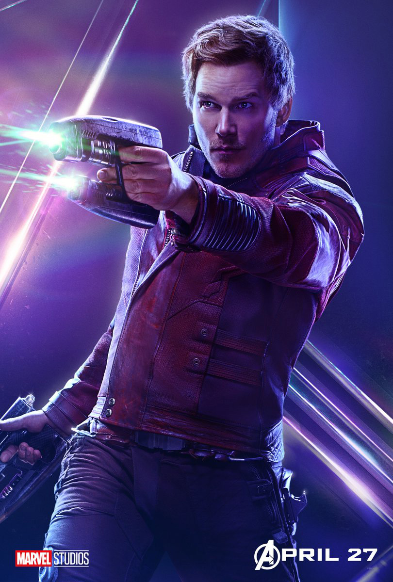 étoile, star Lord - Avengers Infinity War character poster
