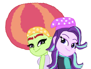 Starlight Glimmer with Afro درخت Hugger