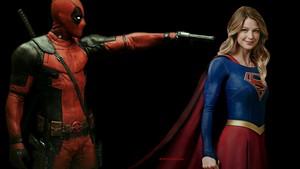 Supergirl karatasi la kupamba ukuta - Deadpool 1
