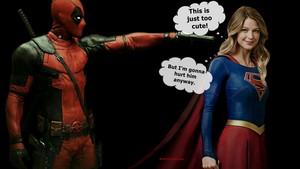 Supergirl karatasi la kupamba ukuta - Deadpool 3