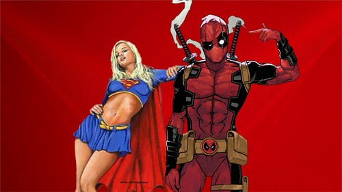 DC Comics achtergrond called Supergirl achtergrond - Deadpool