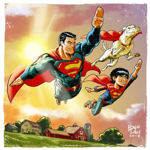 super-homem and Family